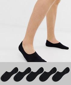 Набор из 5 пар черных невидимых носков Jack & Jones-Черный