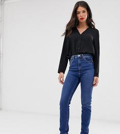 Синие узкие джинсы в винтажном стиле с завышенной талией ASOS DESIGN Tall Farleigh-Синий