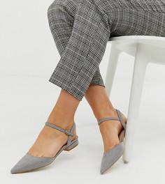 Серые туфли на плоской подошве для широкой стопы RAID Myla-Серый