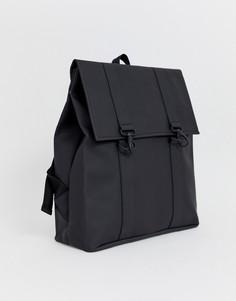 Черный большой рюкзак Rains