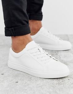 Белые кроссовки из искусственной кожи Jack & Jones Premium-Белый