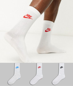 Набор из 3 пар белых носков Nike-Белый
