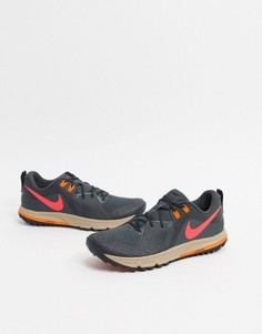 Серые кроссовки Nike Running Air Zoom Wildhorse 5-Серый