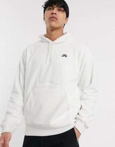 Белый худи из микрофлиса Nike SB