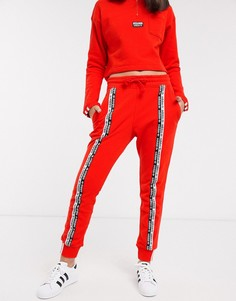Красные джоггеры с отделкой кантом adidas Originals RYV-Красный