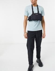 Черная сумка-кошелек с ремешком через шею и логотипом Nicce-Черный