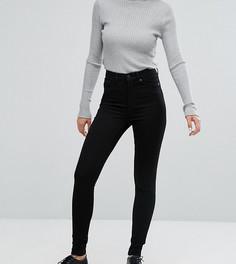 Черные джинсы скинни с завышенной талией из органического хлопка Monki-Черный