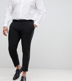 Черные строгие супероблегающие брюки укороченного кроя ASOS DESIGN Plus-Черный
