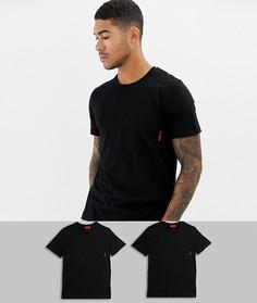 Набор из 2 черных футболок HUGO bodywear-Черный