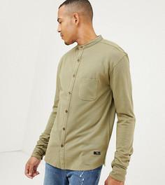 Рубашка с воротником-стойкой, длинными рукавами и карманом Replika Tall-Зеленый