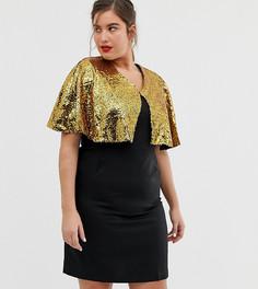 Облегающее платье с кейпом и пайетками Unique21 Hero-Черный