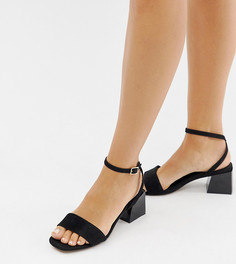 Черные босоножки на блочном каблуке для широкой стопы ASOS DESIGN - Honeywell-Черный
