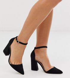 Черные остроносые туфли на каблуке Glamorous-Черный