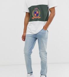 Светлые зауженные джинсы ASOS DESIGN Tall-Синий