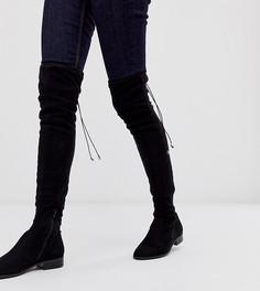 Черные ботфорты для широкой стопы и голени ASOS DESIGN Kayden-Черный
