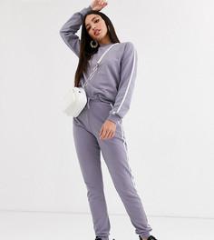 Спортивный костюм со свитшотом и джоггерами ASOS DESIGN Tall-Фиолетовый