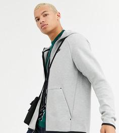Серый худи на молнии Nike Tall Tech-Черный