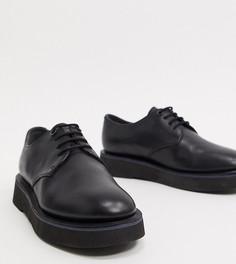 Черные броги со шнуровкой и массивной подошвой Camper-Черный