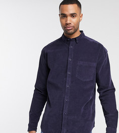 Темно-синяя свободная вельветовая рубашка в стиле 90-х ASOS DESIGN Tall-Темно-синий