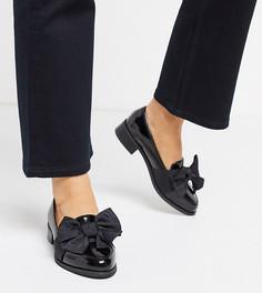 Туфли для широкой стопы на плоской подошве ASOS DESIGN Matchsticks-Черный