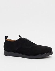 Черные замшевые туфли на шнуровке H by Hudson-Черный