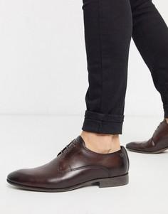 Коричневые кожаные туфли Base london-Коричневый