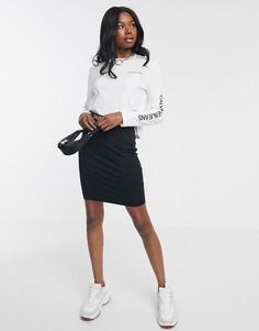 Юбка с логотипом на поясе Calvin Klein-Черный