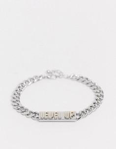 Серебристый браслет с золотистой отделкой ASOS DESIGN-Серебряный