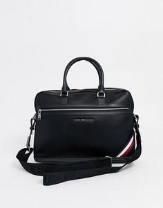 Черная сумка для ноутбука Tommy Hilfiger downtown-Черный