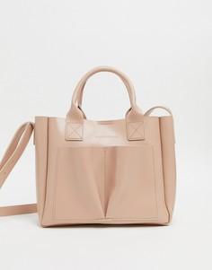 Маленькая сумка с двумя ручками Claudia Canova-Розовый