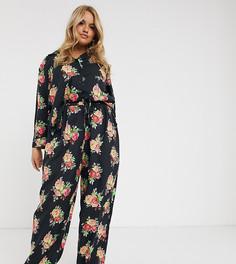 Пижама из 100% модала с рубашкой и брюками ASOS DESIGN Curve-Зеленый
