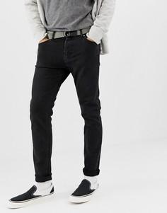 Черные джинсы узкого кроя Weekday - Friday (tuned)-Черный