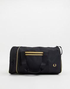 Черная сумка с контрастной отделкой Fred Perry-Черный
