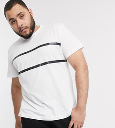 Белая футболка с фирменной лентой Calvin Klein Jeans plus-Белый