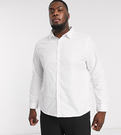 Белая оксфордская рубашка с длинными рукавами New Look Plus-Белый