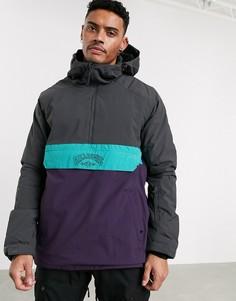 Серо-фиолетовая горнолыжная куртка-анорак Billabong Stalefish-Фиолетовый