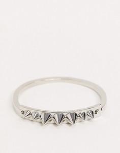 Серебристый браслет-манжета с шипом ASOS DESIGN-Серебряный