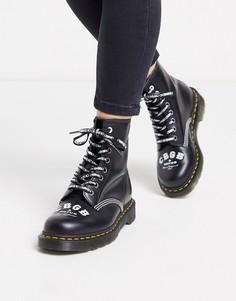 Черные высокие ботинки Dr Martens x CBGB 1460-Черный