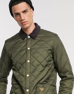 Стеганая куртка оливкового цвета Barbour Beacon Starling-Зеленый