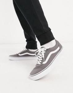 Парусиновые кроссовки оловянного/белого цвета Vans Ward-Серый