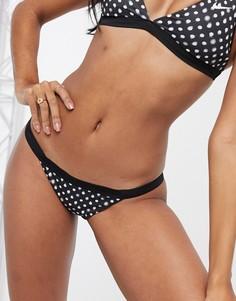 Черные плавки бикини в горошек Nike-Мульти