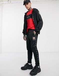 Черные спортивные брюки с логотипом ellesse-Черный