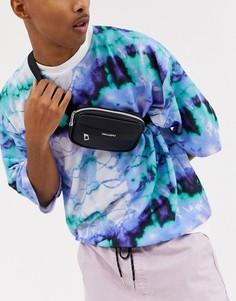 Черная сумка-кошелек через плечо из искусственной кожи ASOS DESIGN-Черный
