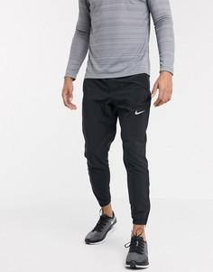 Черные тканые джоггеры Nike Running-Черный