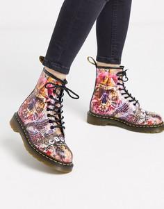 Высокие ботинки с принтом Dr Martens x CBGB 1460-Мульти