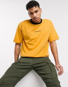 Желтая oversized‑футболка с контрастной отделкой и логотипом Converse-Желтый
