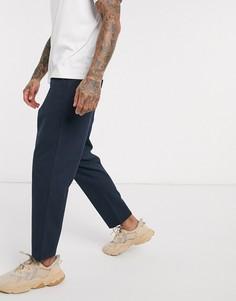 Темно-синие брюки до щиколотки Farah-Темно-синий