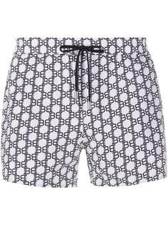 Balmain плавки-шорты с монограммой BB