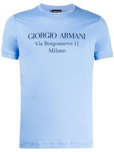 Giorgio Armani футболка с короткими рукавами и логотипом