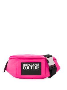Versace Jeans Couture поясная сумка с нашивкой-логотипом